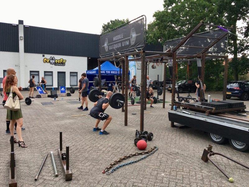 Mobile Outdoor Gym tijdens een workshop